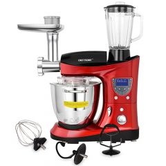 CHEFTRONIC 4 In 1 Upgraded Kitchen Stand Mixer SM-1088, 1000W 7.4QT Precise Heat Bowl with Meat Grinder Blender