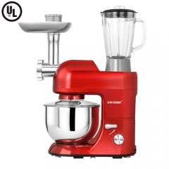 CHEFTRONIC 3 In 1 Upgraded Stand Mixer,SM-1086 with 5.5QT Bowl, Grinder, Blender, Pasta/Sausage Maker