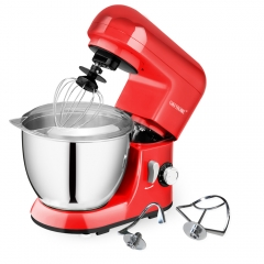 CHEFTRONIC Stand Mixer SM-985,350W 6 Speeds Tilt-head Compact Kitchen Electric Mixer 4.2 Quart Stainless Steel Bowl with Pouring Shield